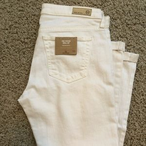 NWT Anthropologie AG white Stevie rollup Jean 29R